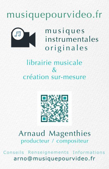 carte de visite digitale: Musiquepourvideo.fr - Librairie musicale et création sur-mesure
